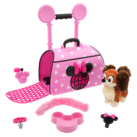 Minnie Mouse Popstar Pet Carrier - The 7-piece set includes a cute Fifi plush and all the essentials the pampered pooch will need for her travels.