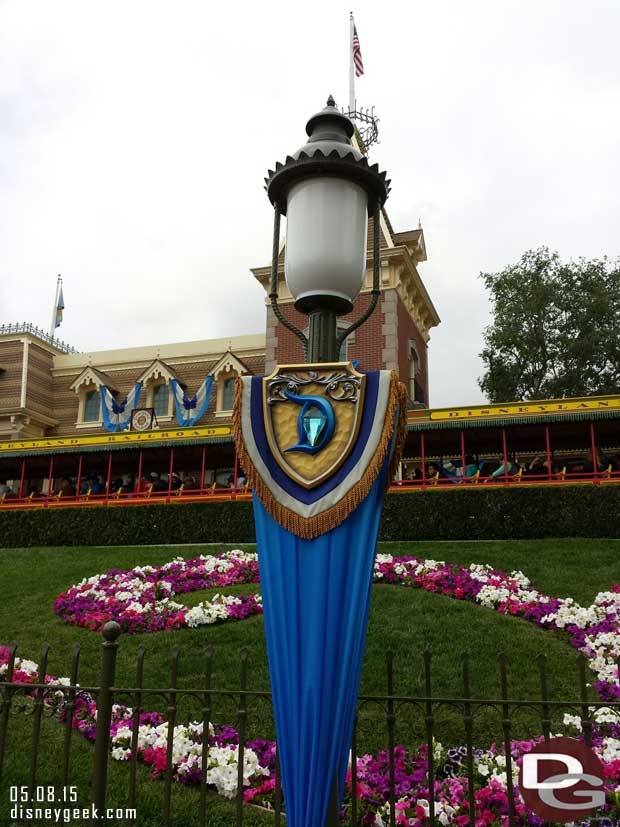 #Disneyland60 lamp post banners