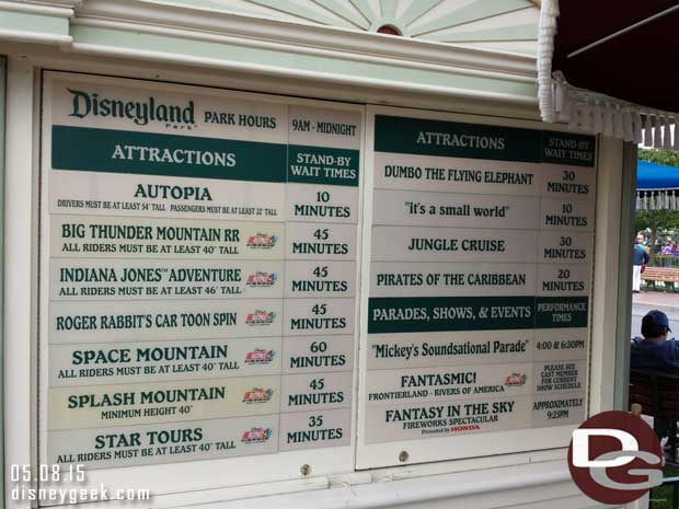 #Disneyland waits as of 2:06pm