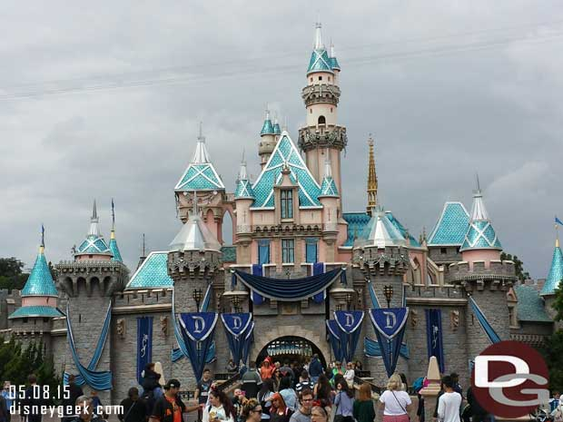 Sleeping Beauty Castle almost ready for #Disneyland60