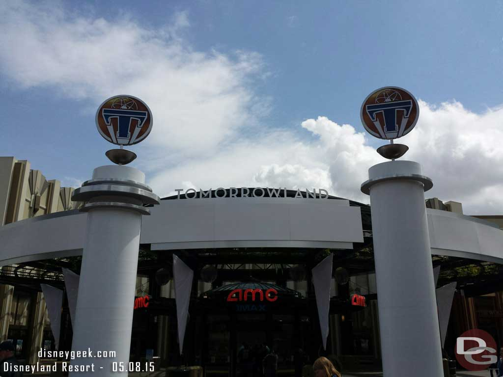 The AMC in Downtown Disney will be hosting the Tomorrowland premiere tomorrow #Disneyland