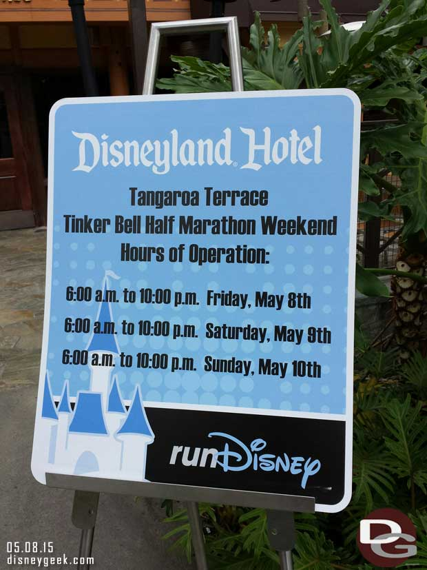 Extended hours this weekend for the Tangaroa Terrace at the #DisneylandHotel