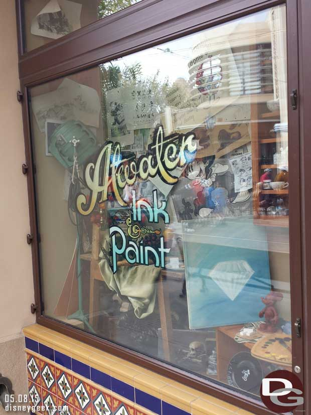 Atwater Ink & Paint window #BuenaVistaStreet has a couple diamonds #Disneyland60