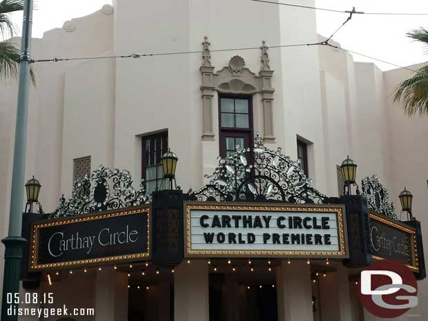 Carthay Circle Restaurant is receiving its diamonds for #Disneyland60