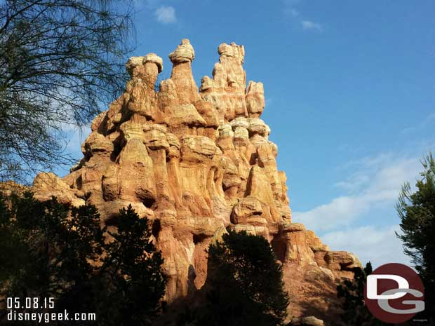 Big Thunder with blue sky finally #Disneyland