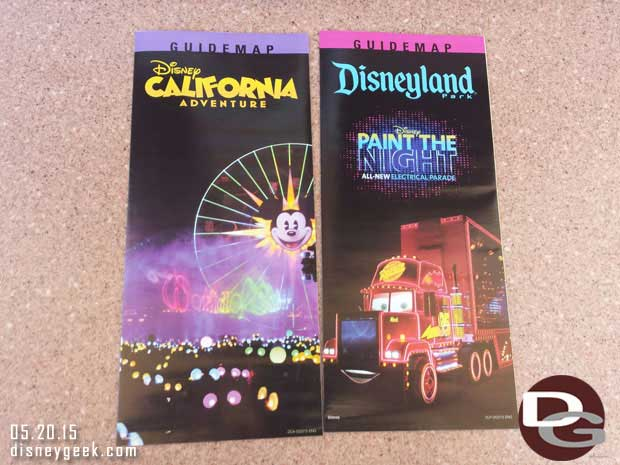 Paint the Night is featured on the new #Disneyland guidemaps