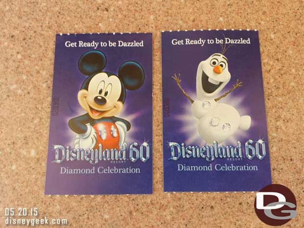 #Disneyland60 tickets – Olaf and Mickey