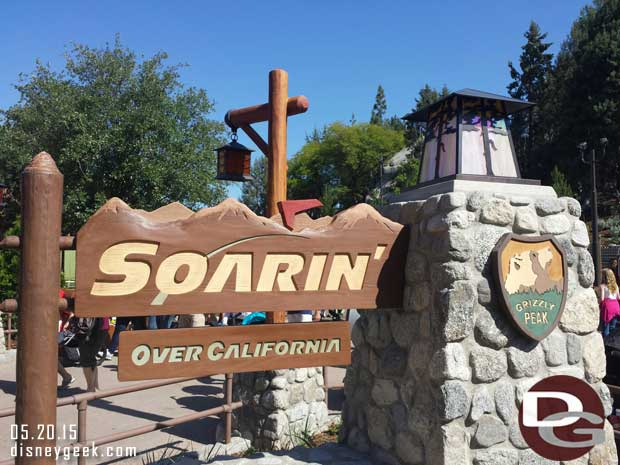 Soarin over California has reopened in the new Grizzly Peak Airfield since my last visit