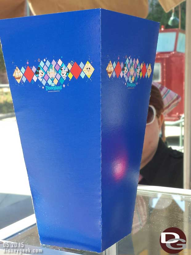 #Disneyland60 popcorn container