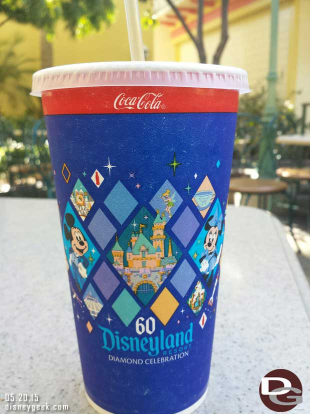 #Disneyland60 soft drink cups are in use now