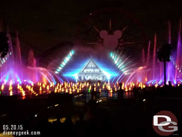 World of Color Celebrate – Star Tours  #Disneyland60