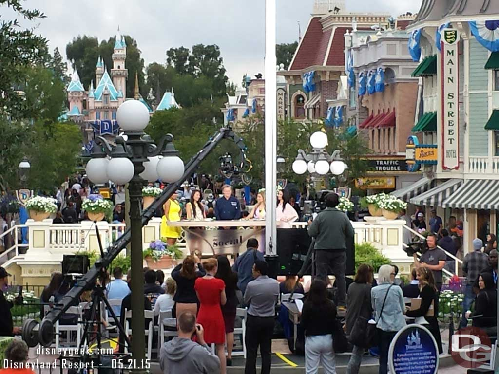 The Social is being taped in Town Square this morning #Disneyland60
