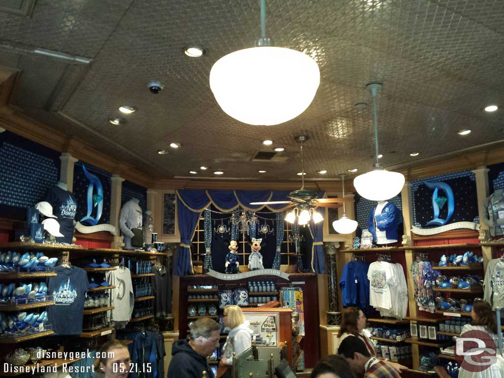 The Disney Showcase on Main Street is all #Disneyland60 merchandise