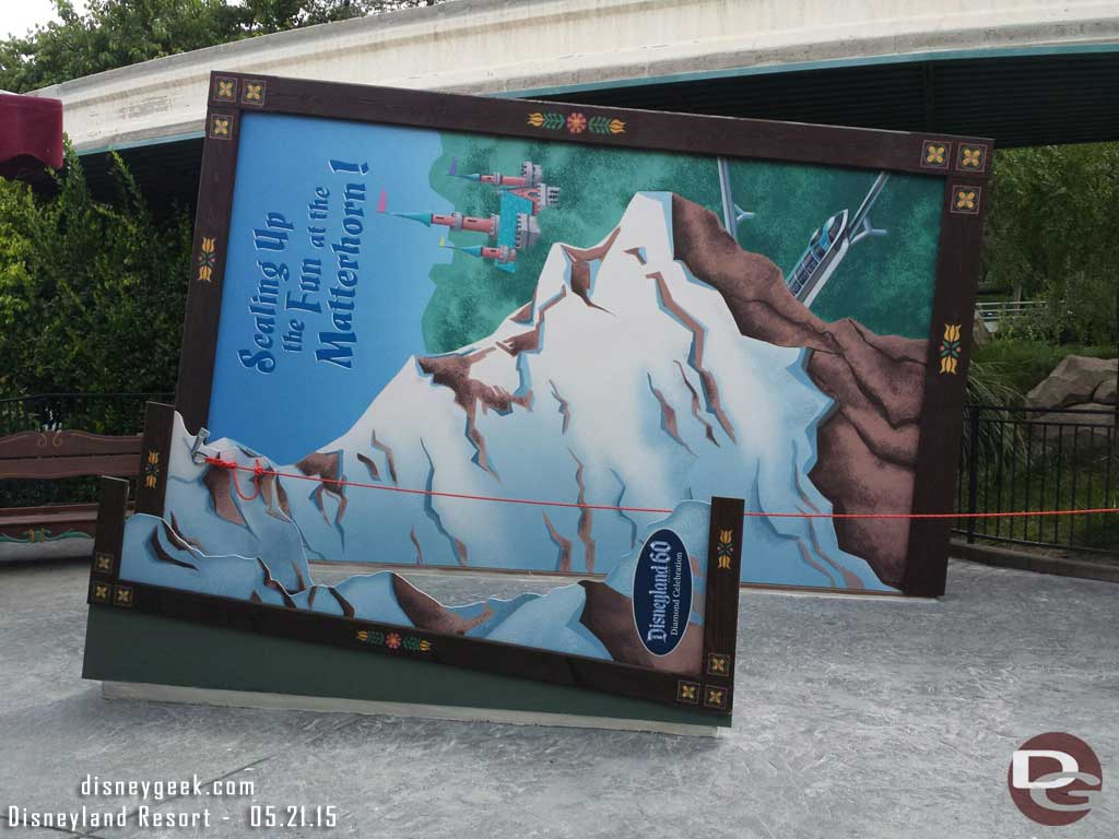 Matterhorn Diamond Celebration Photo Spot #Disneyland60