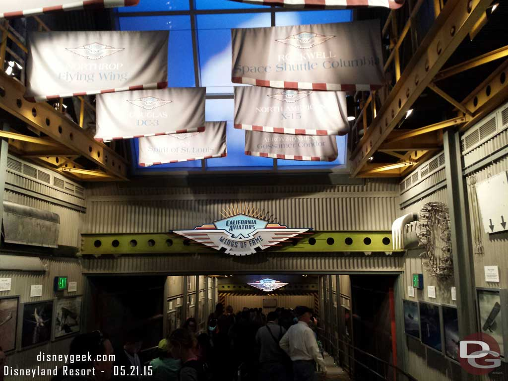 Soarin has returned.  The interior queue is the same as before