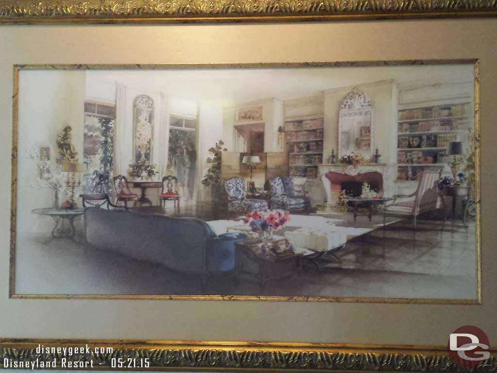 Concept art for Walt's New Orleans Square apartment in the Dream Suite #Disneyland60
