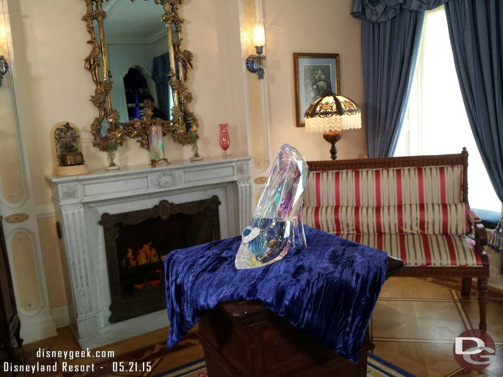 A glass/crystal slipper in the Dream Suite #Disneyland60