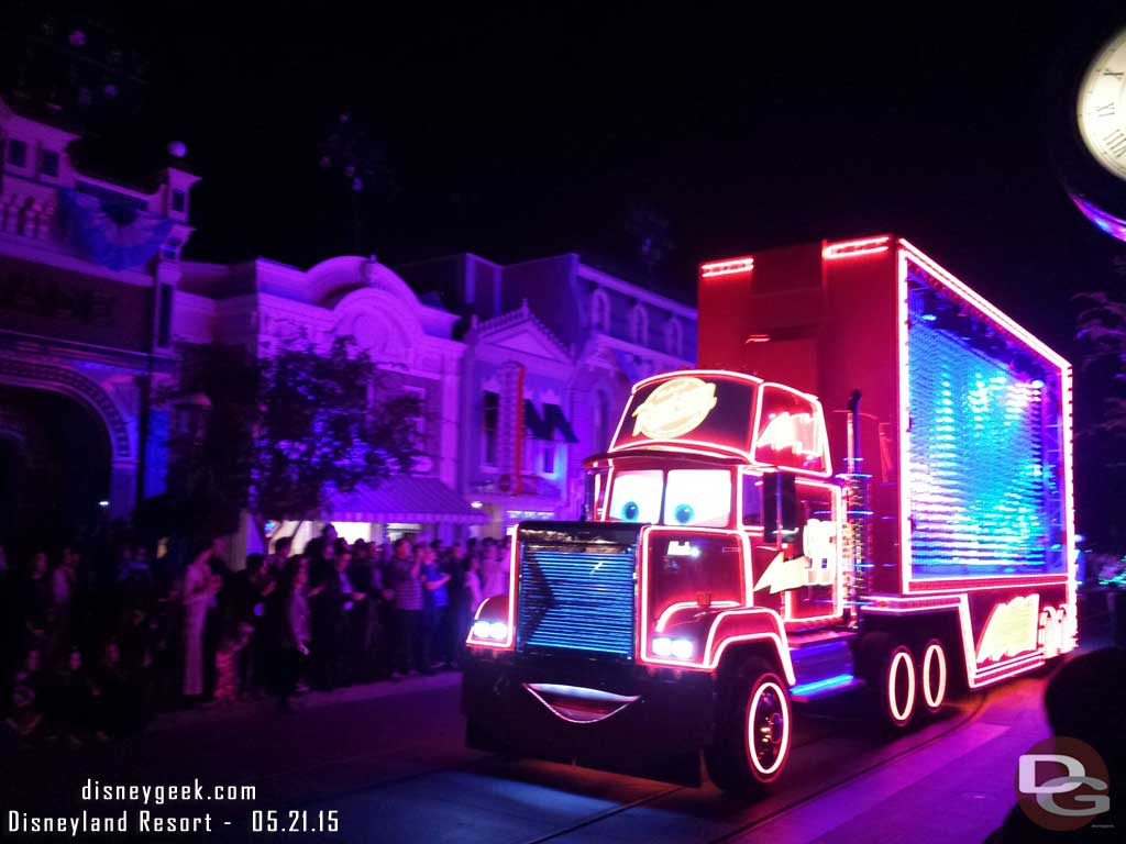 Mack in the Paint the Night premiere #Disneyland60