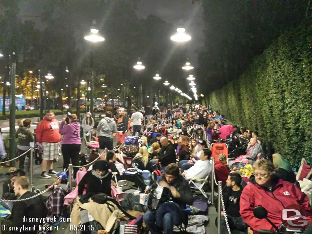 The line for the 24hr day as of 10:10pm 1st person lined up at 3pm
