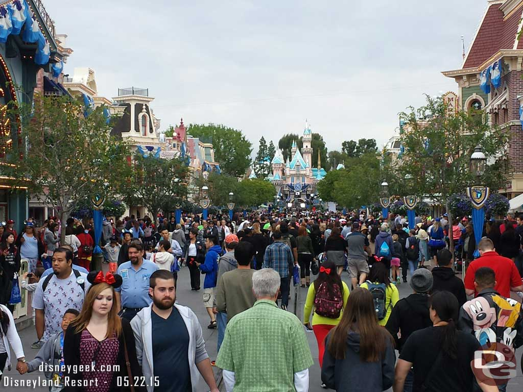 Main Street at 7am #Disneyland60 #Disneyland24