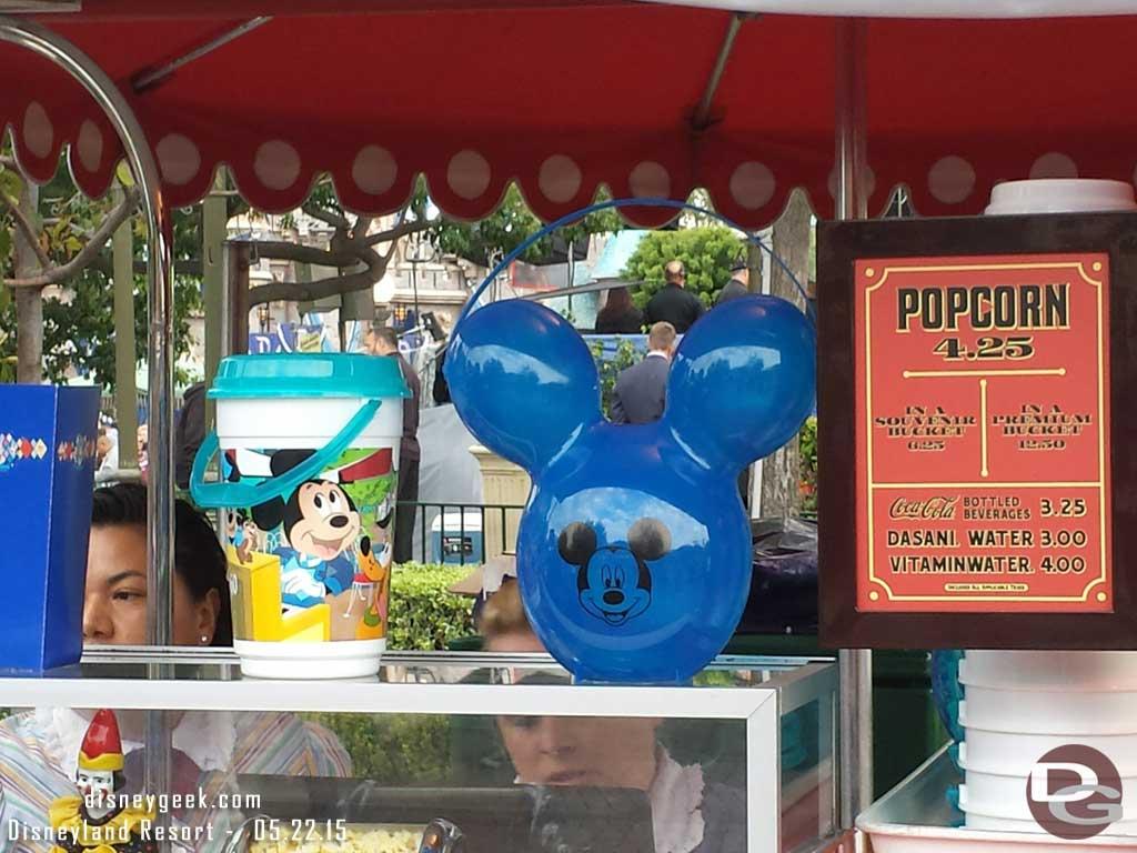 #Disneyland60 popcorn buckets $12.50