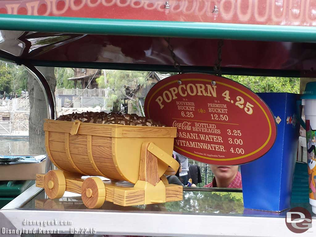 Mine Car popcorn bucket in Frontierland $12.50 #Disneyland60