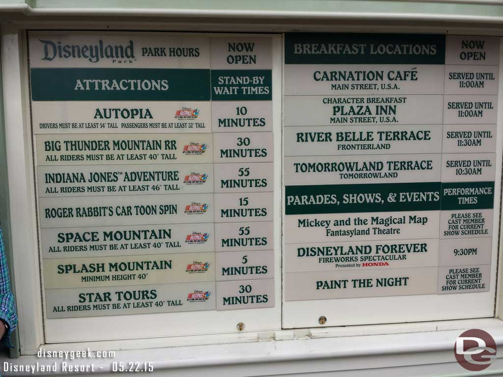 #Disneyland waits as of 8:17am