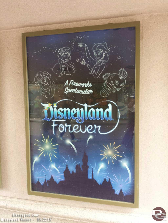 #Disneyland Forever fireworks poster #Disneyland60
