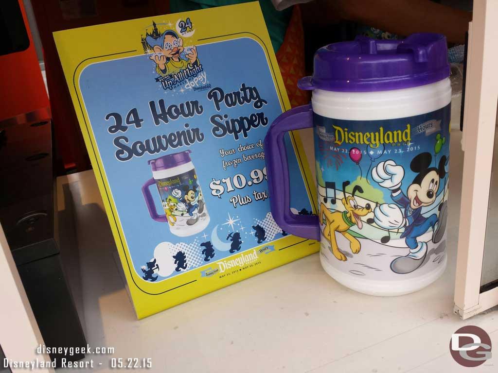24hr Souvenir Sipper $10.99 #Disneyland60