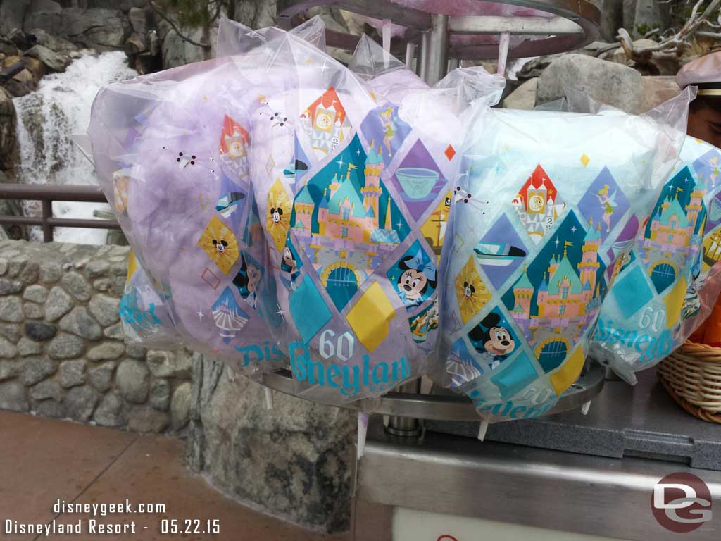 #Disneyland60 cotton candy bags