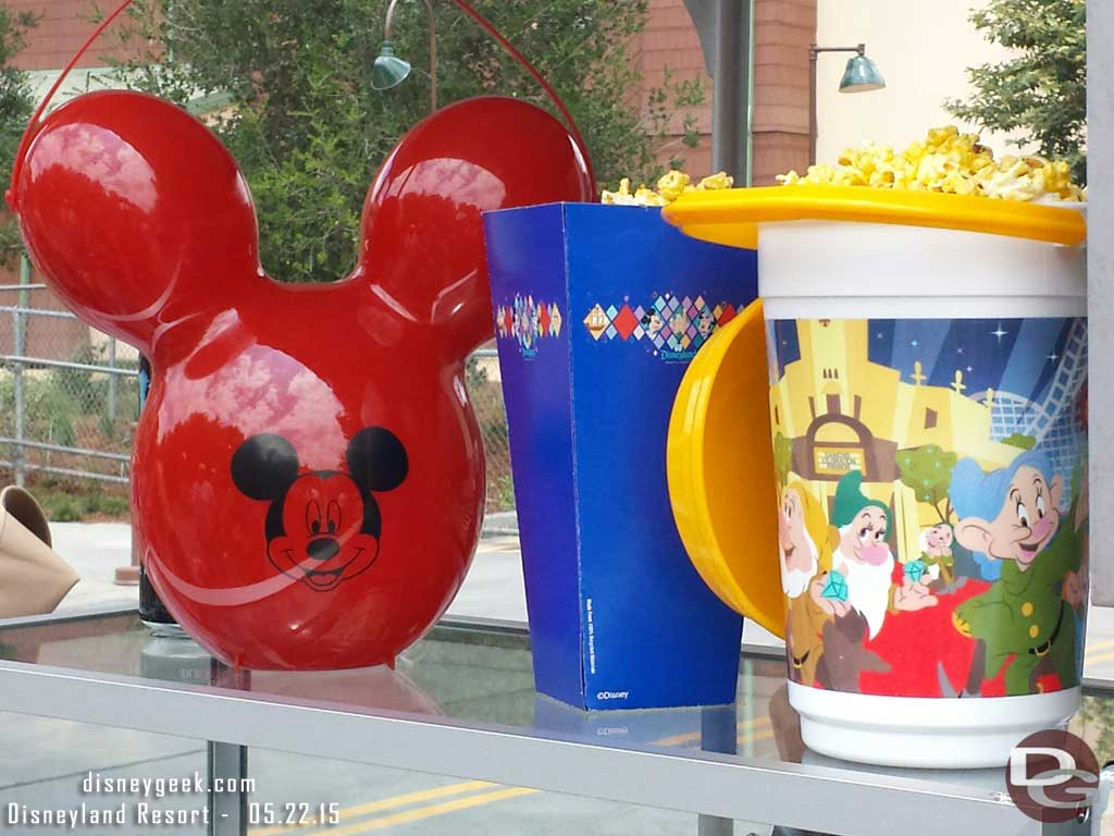 The Red Balloon popcorn bucket is for sale by Soarin #Disneyland60