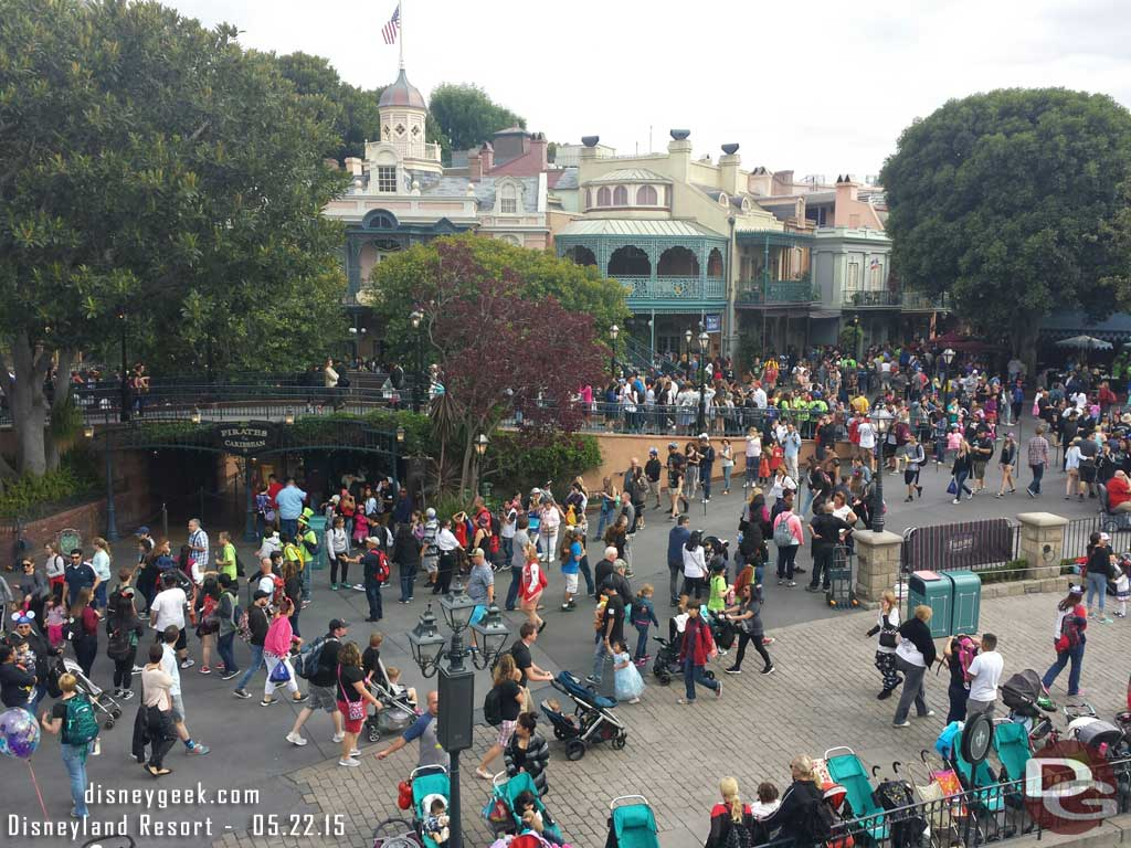 New Orleans Square this afternoon, not too bad #Disneyland #Disney24