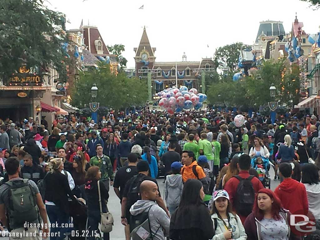 Main Street USA as of 6:37pm #Disneyland60