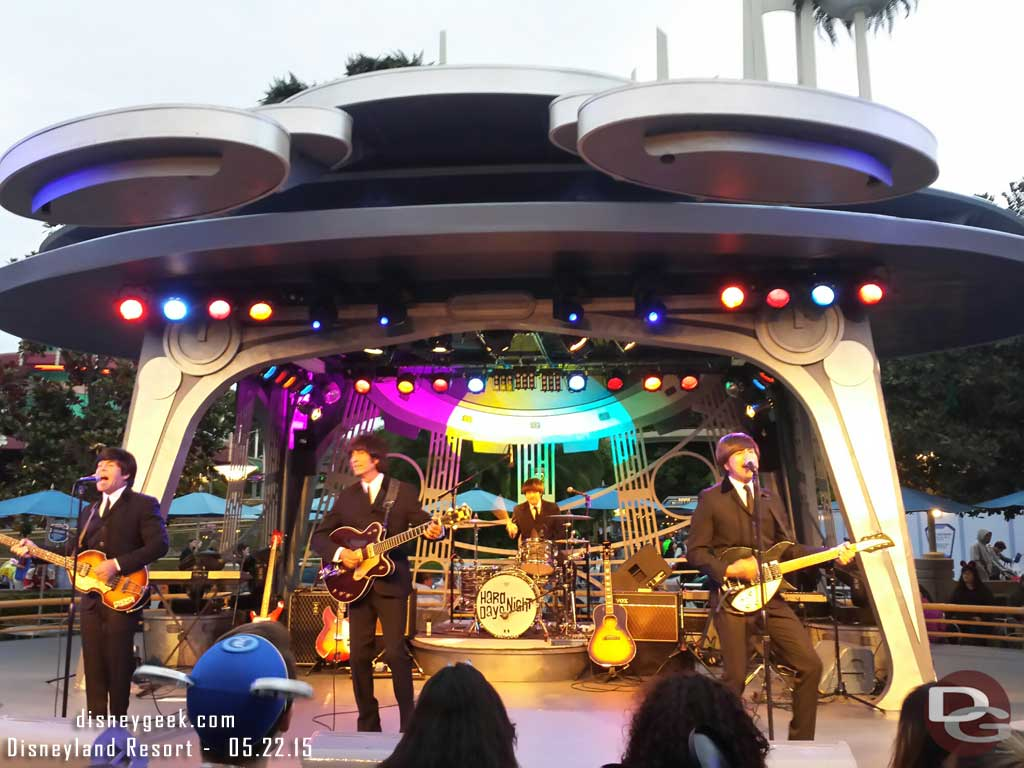 Hard Day's Night @ Tomorrowland Terrace tonight #Disneyland #Disney24