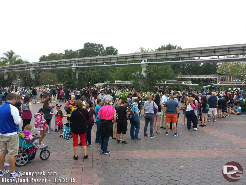 The lines for #Disneyland this morning