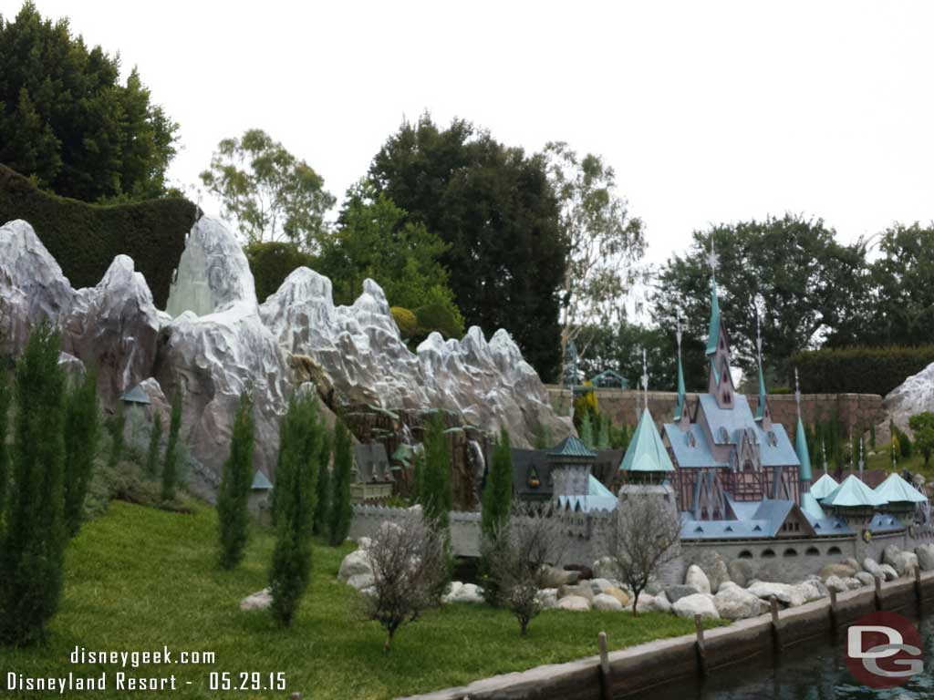 Started our morning off in Storybook Land #Disneyland #Frozen