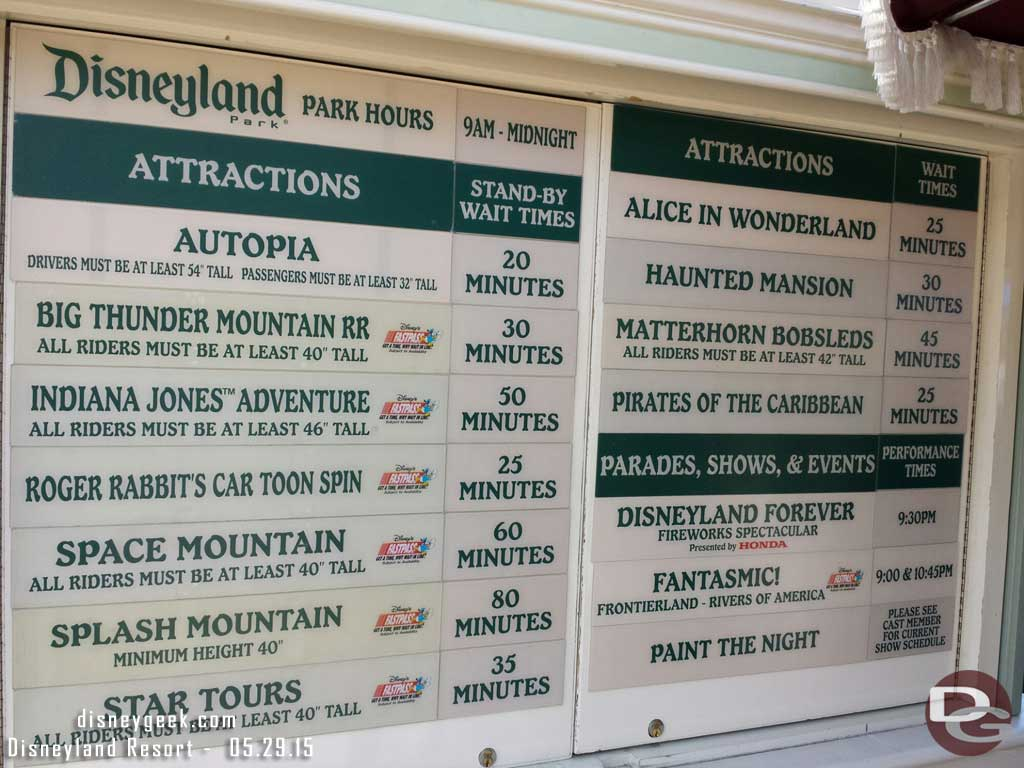 #Disneyland waits as of 2:15pm
