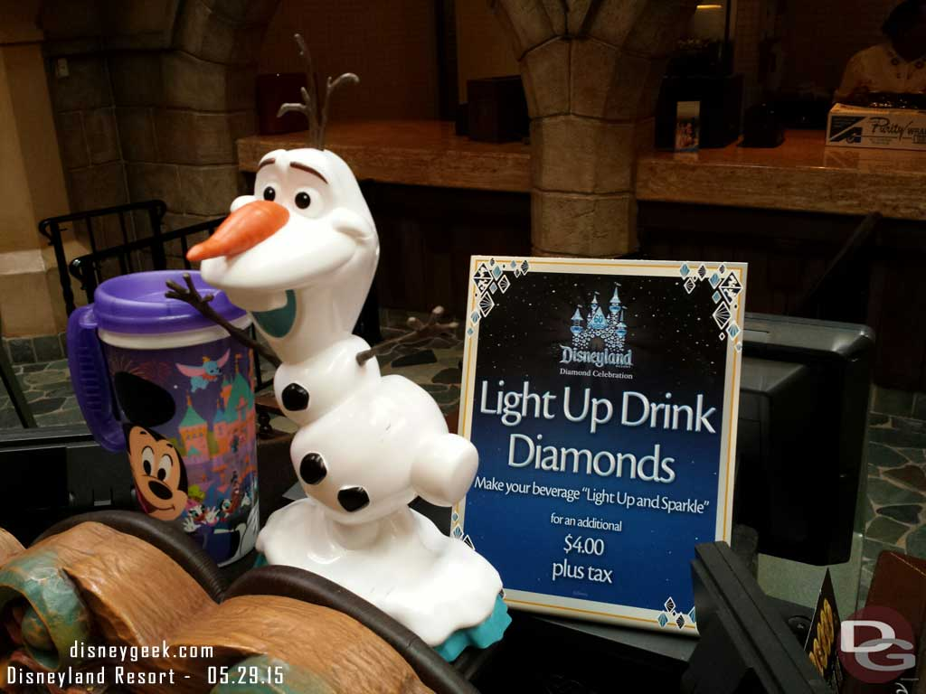 Village Haus Olaf Sipper & Light up drink diamonds #Disneyland60