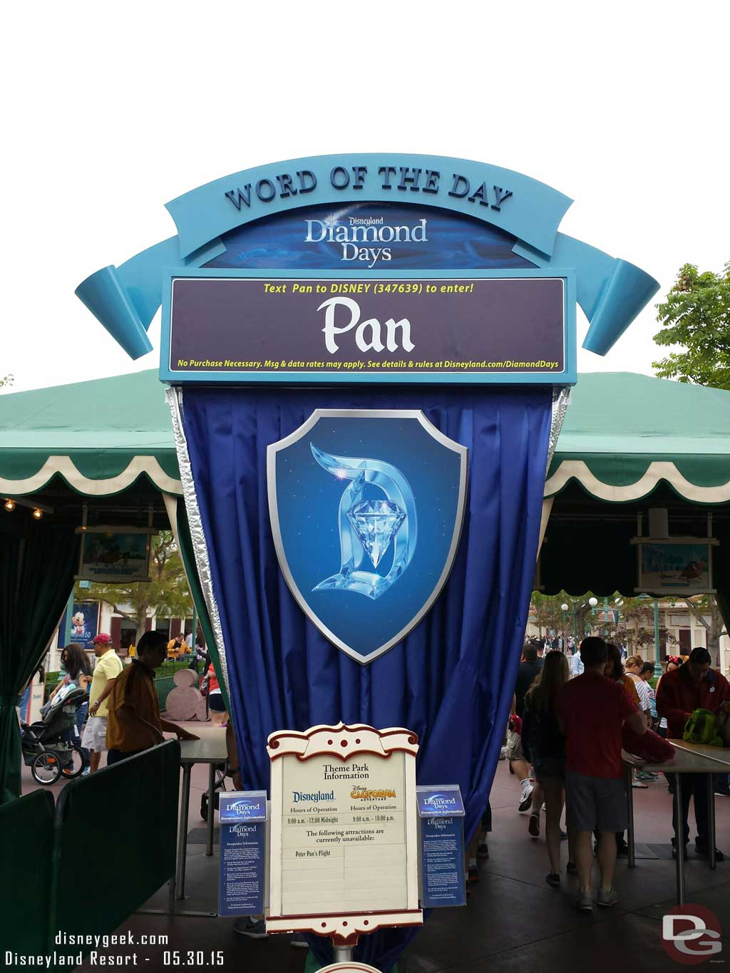 At #Disneyland the word of the day today #Disneyland60