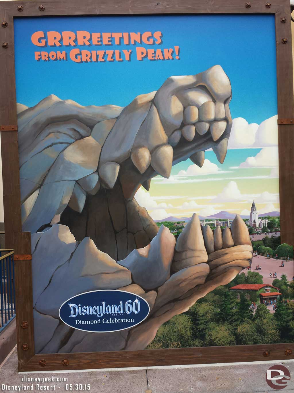 Grizzly Peak photo spot for #Disneyland60