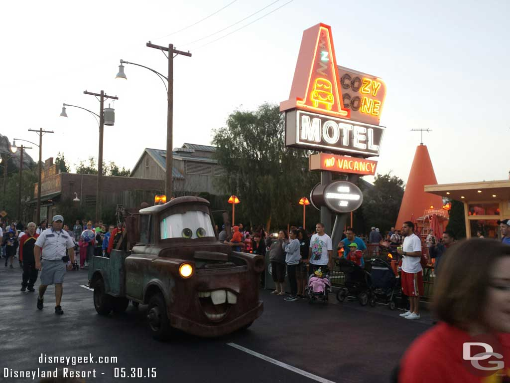 Mater rolling down Route 66 #CarsLand