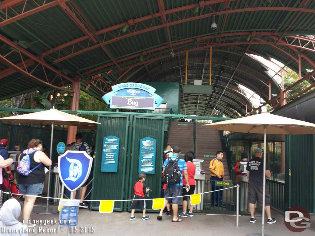 The word of the day is also at the Downtown Disney monorail station #Disneyland60
