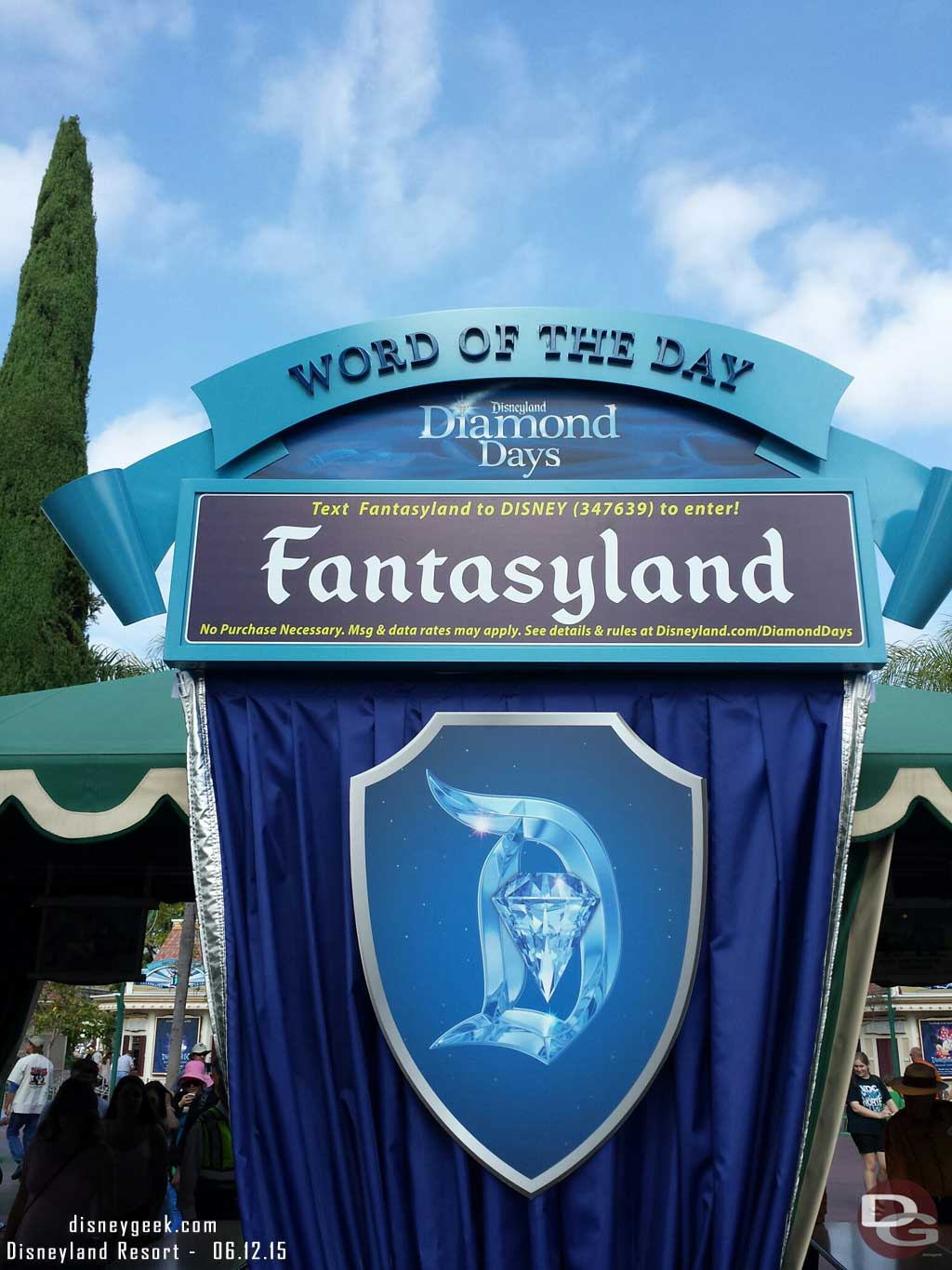 Just arrived at #Disneyland. The word of the day today if you need it
