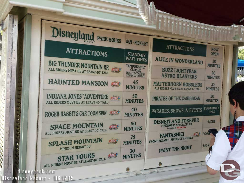 #Disneyland waits as of 4:45pm