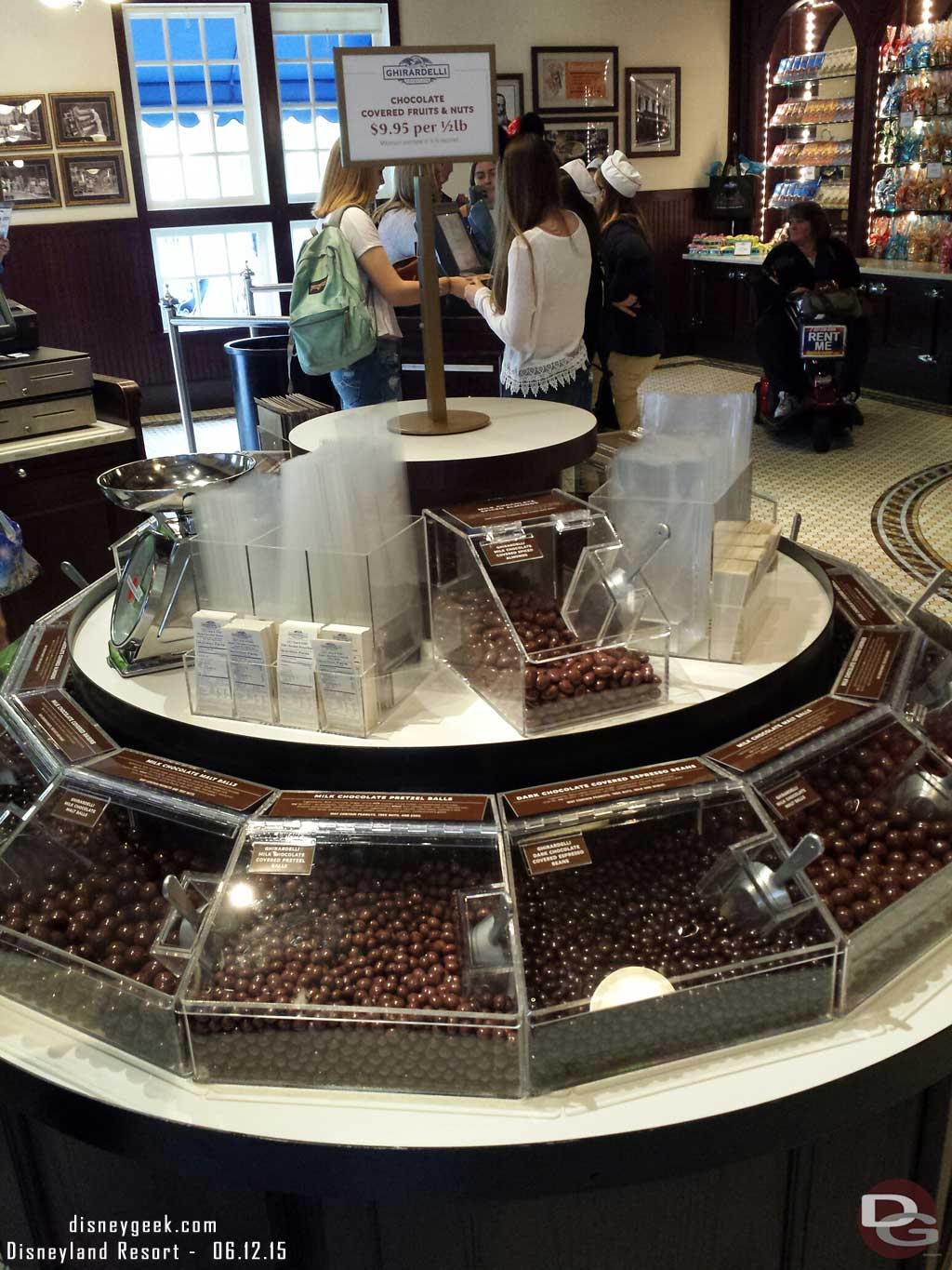 Ghirardelli has a new display featuring chocolate covered fruits & nuts