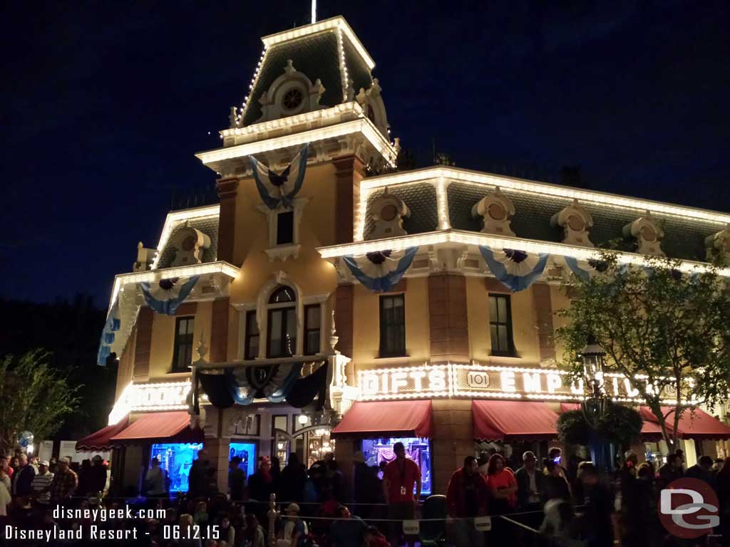 The Emporium while waiting for #PaintTheNight #Disneyland60