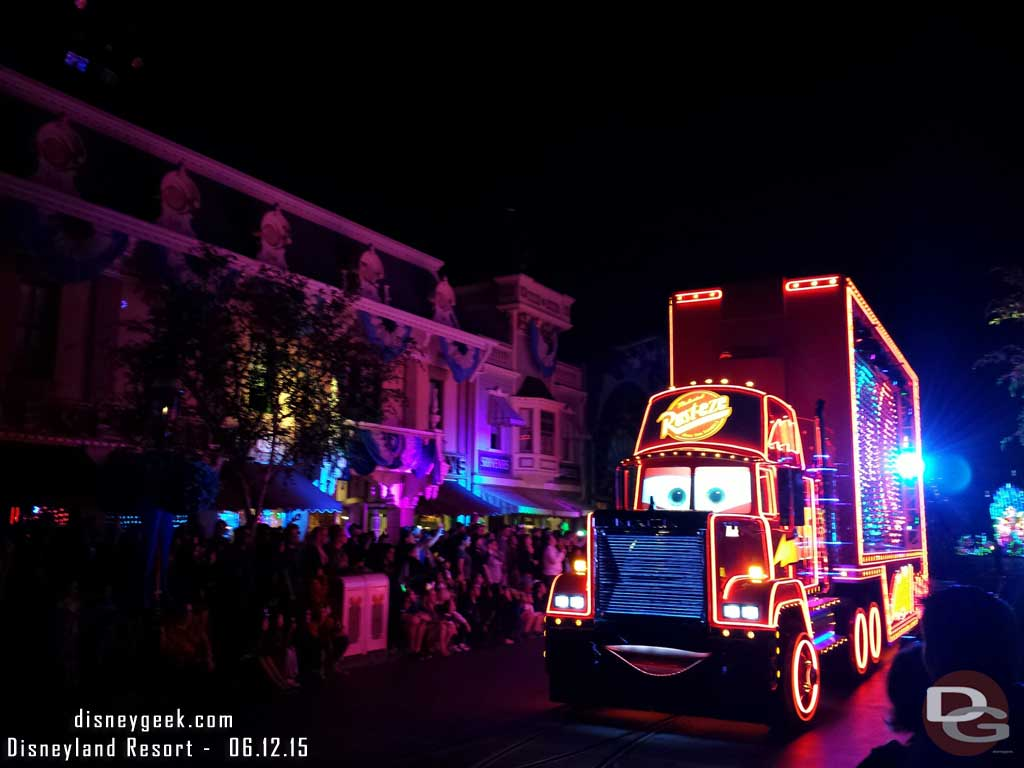 Mack on Main Street #PaintTheNight ##Disneyland60