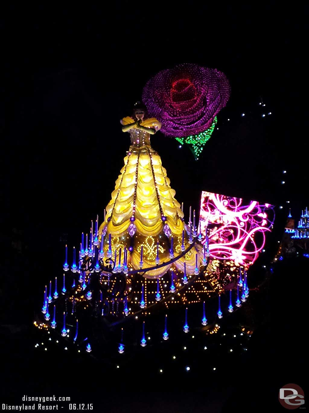 The LCD on Belle's float was mostly black #PaintTheNight