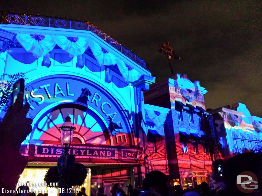 #DisneylandForever Circle of Life projections on Main Street #Disneyland60