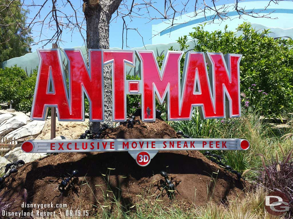 #AntMan sneak peek has opened in the Bugs Theater at Disney California Adventure